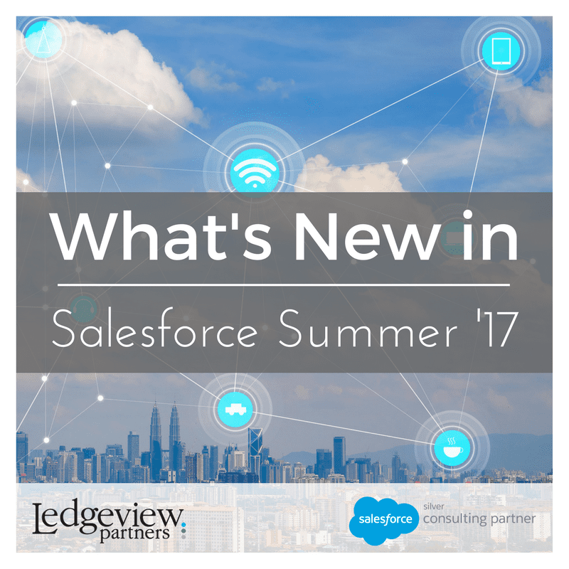 What's New in Salesforce Summer 17