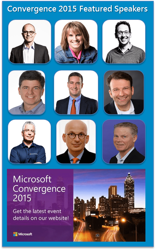 Speakers at Convergence 2015
