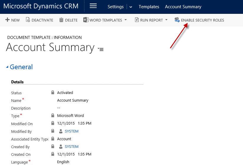 Creating Document Templates for Dynamics CRM 2016 Ledgeview Partners – Summary Document Template