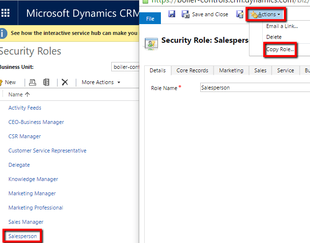 Dynamics Security Role 3