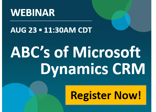 ABC's of Dynamics CRM webinar 8-23
