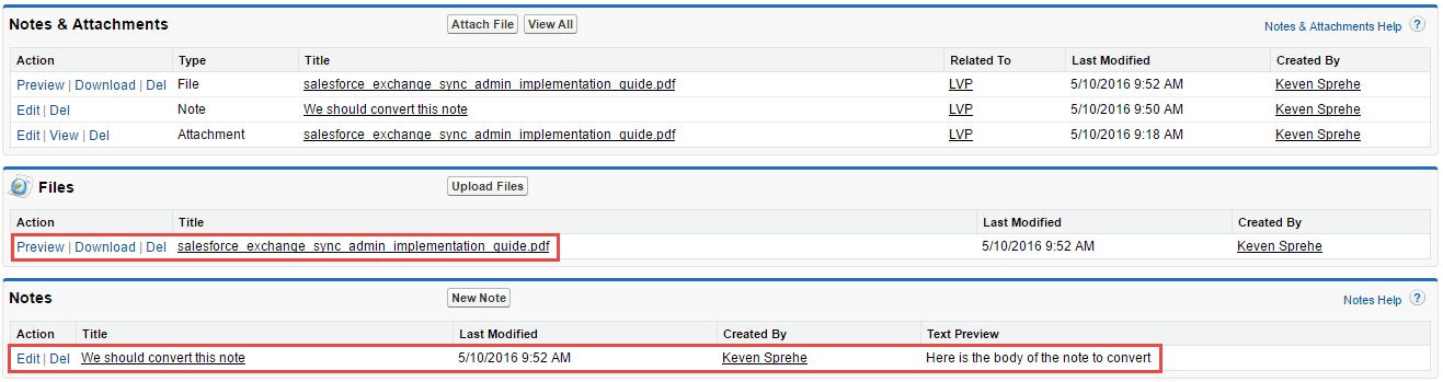 salesforce results example 2