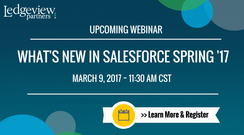 What's New in Salesforce Spring '17