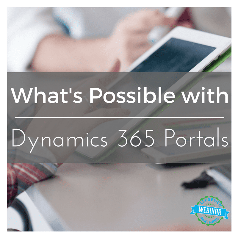 what's possible with dynamics 365 portals