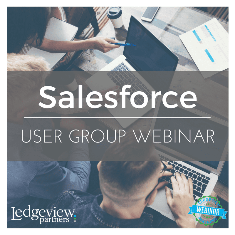 Salesforce User Group Webinar