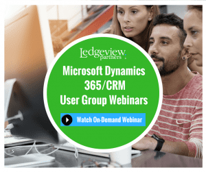 Microsoft Dynamics 365 CRM User Group Webinars